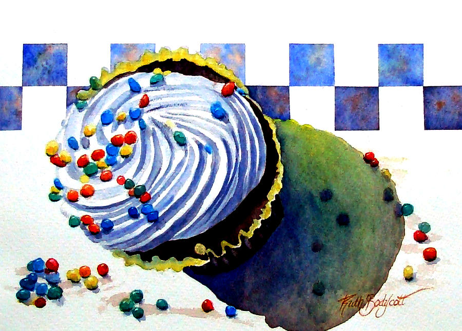 Cupcake Painting - Colors For The Palate by Ruth Bodycott