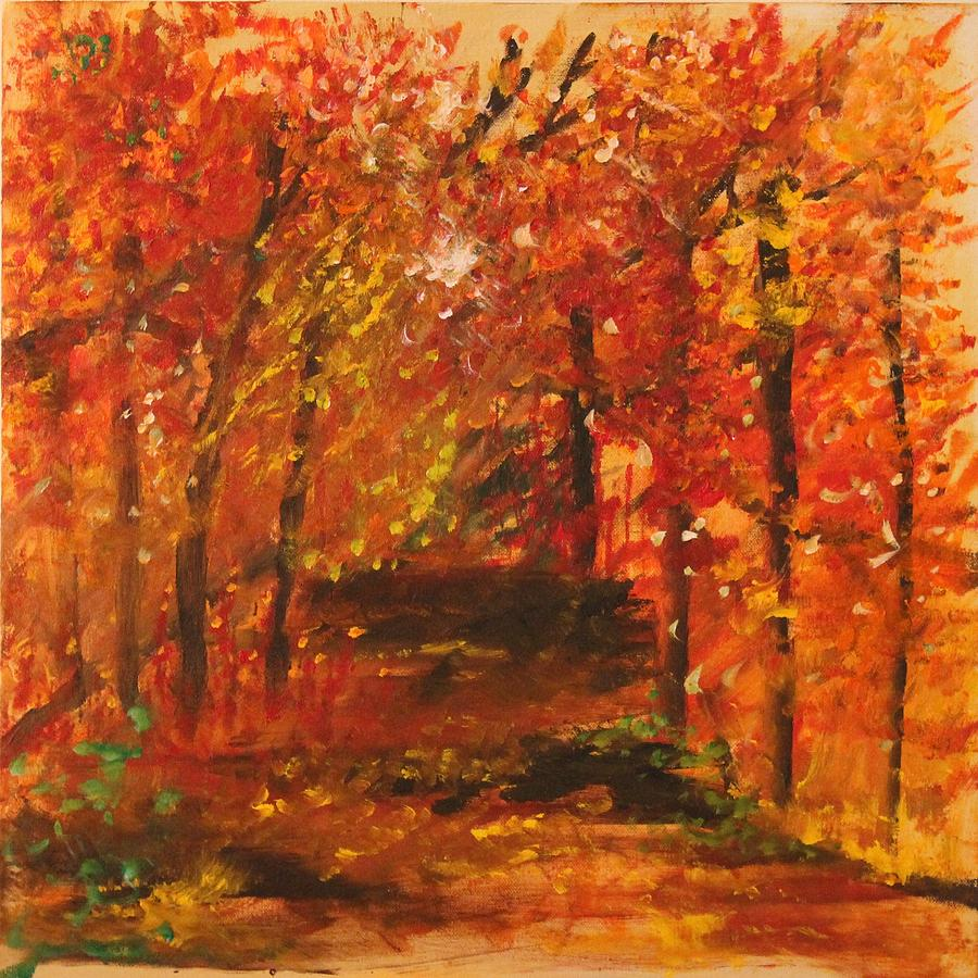 Colors Of Fall Painting By Joanna Deritis