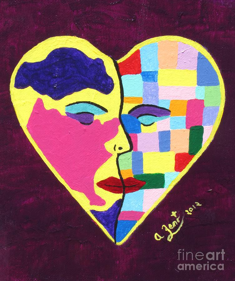 Colors Of Love Painting  - Colors Of Love Fine Art Print