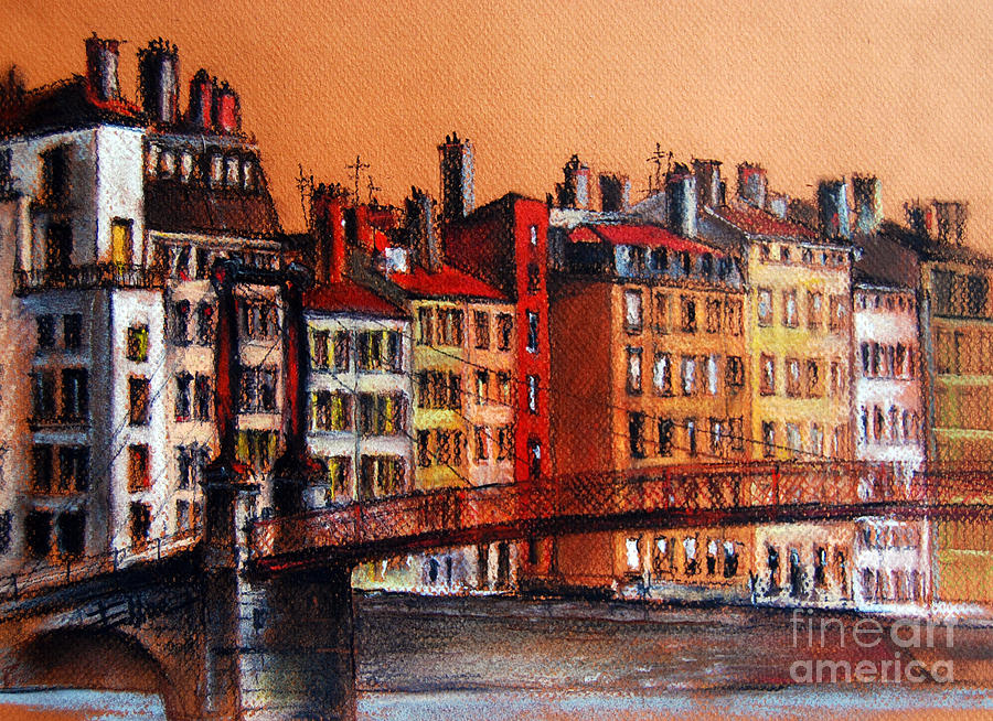 Colors Of Lyon I Painting  - Colors Of Lyon I Fine Art Print