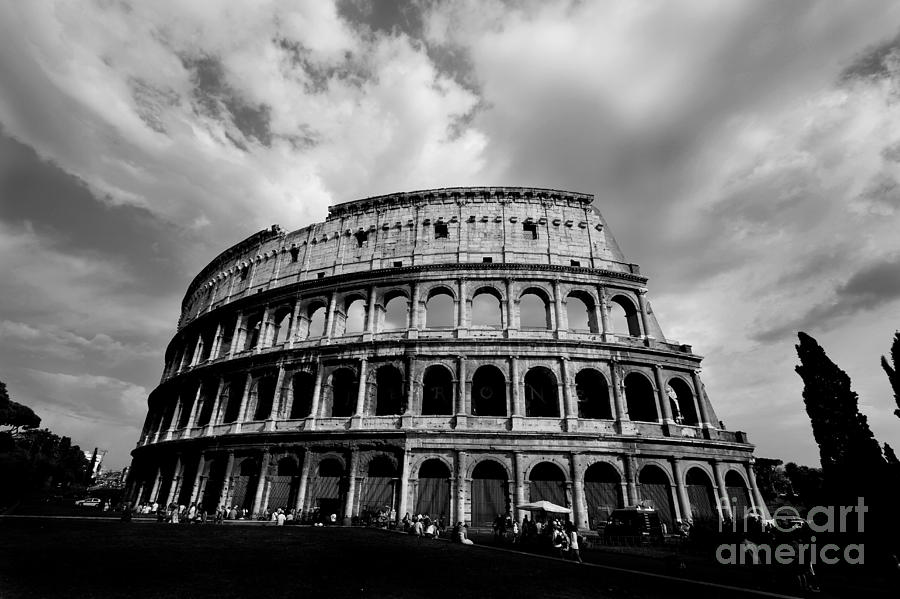 Colosseum In Black And White Photograph  - Colosseum In Black And White Fine Art Print