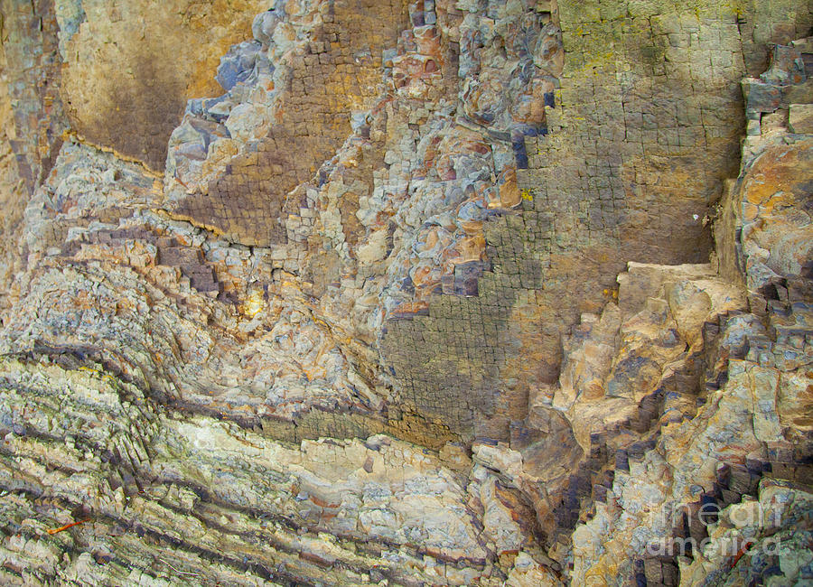 Colour Jagged Rock Photograph  - Colour Jagged Rock Fine Art Print