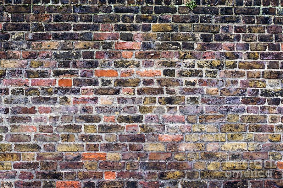 Colourful London Brick Wall Photograph