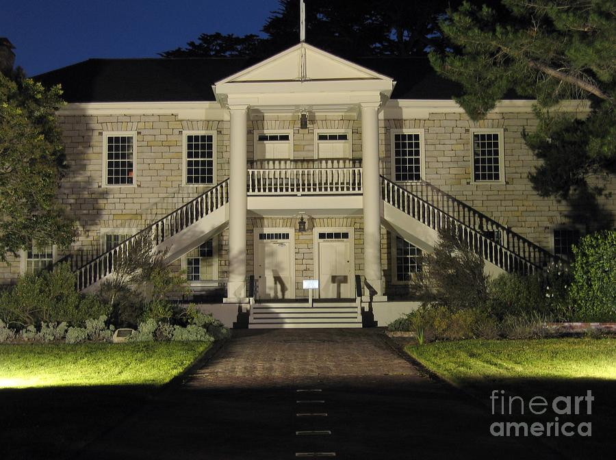 Colton Hall At Night Photograph