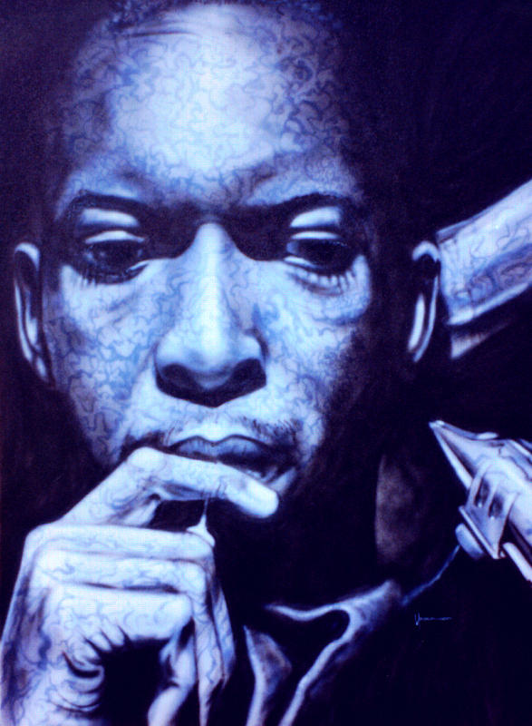 Coltrane Painting - Coltrane by Mike Underwood