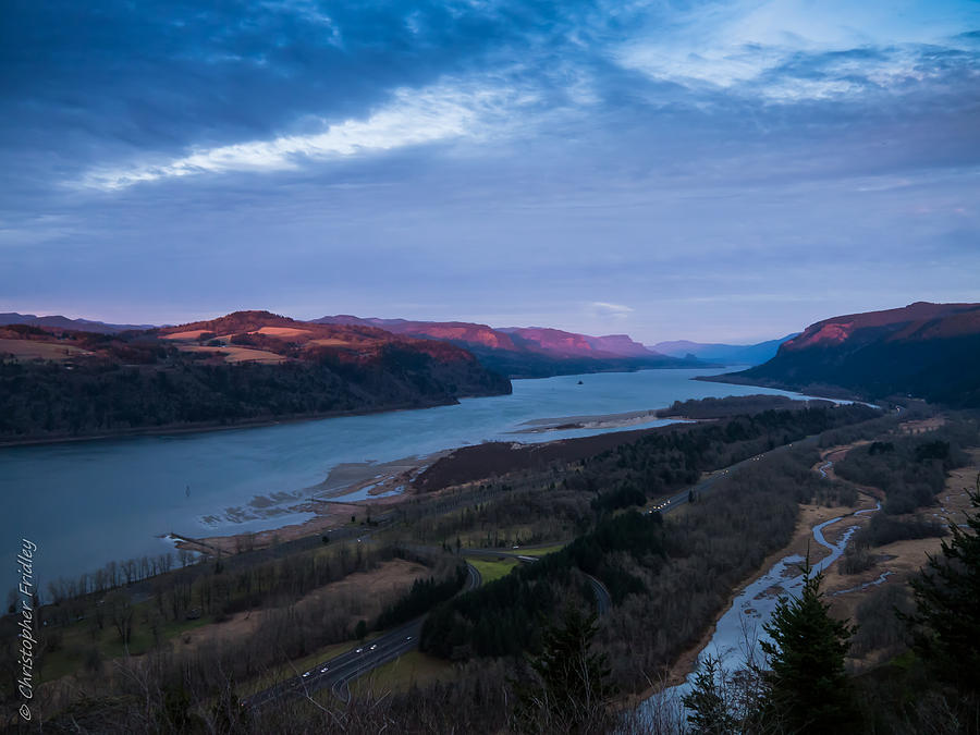 Columbia River Valley Photograph  - Columbia River Valley Fine Art Print