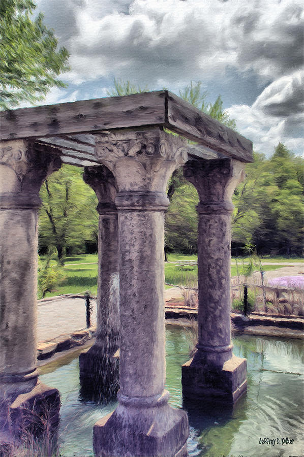 Columns In The Water Painting