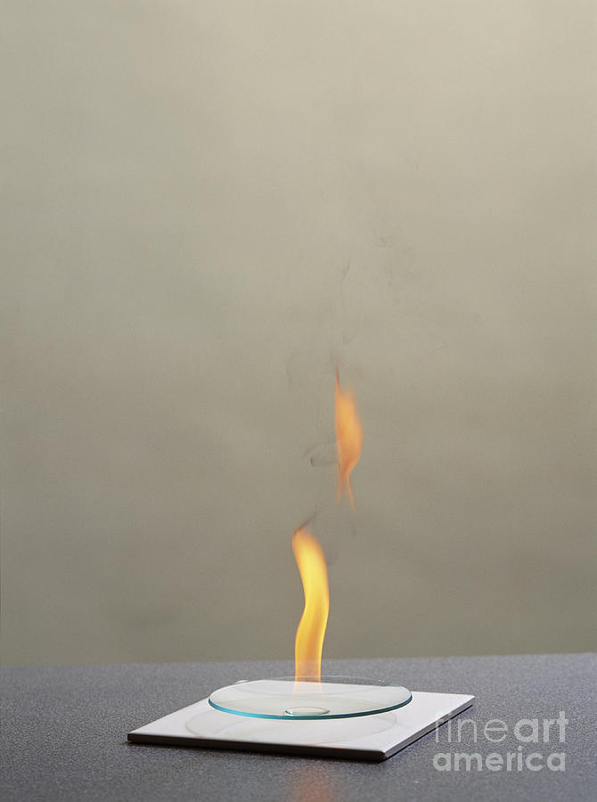 Combustion Of An Alkane Photograph