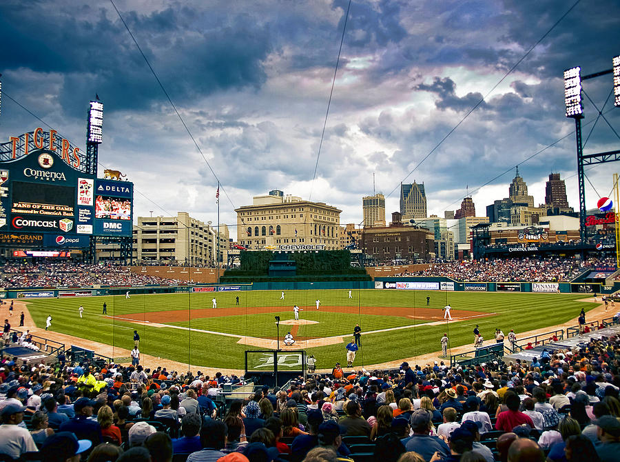 Comerica Park Photograph - Comerica Park by Cindy Lindow