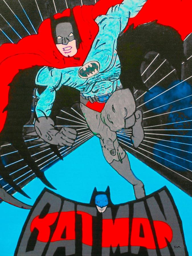 Comic Book Batman Painting