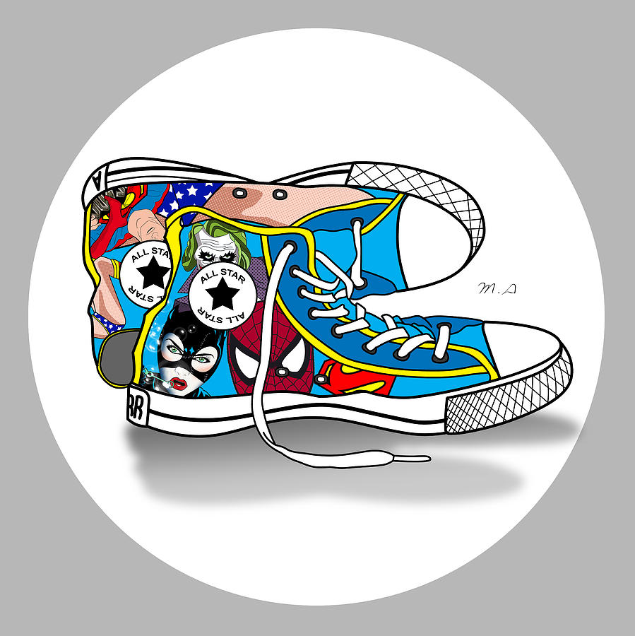 Comics Shoes 2 Digital Art