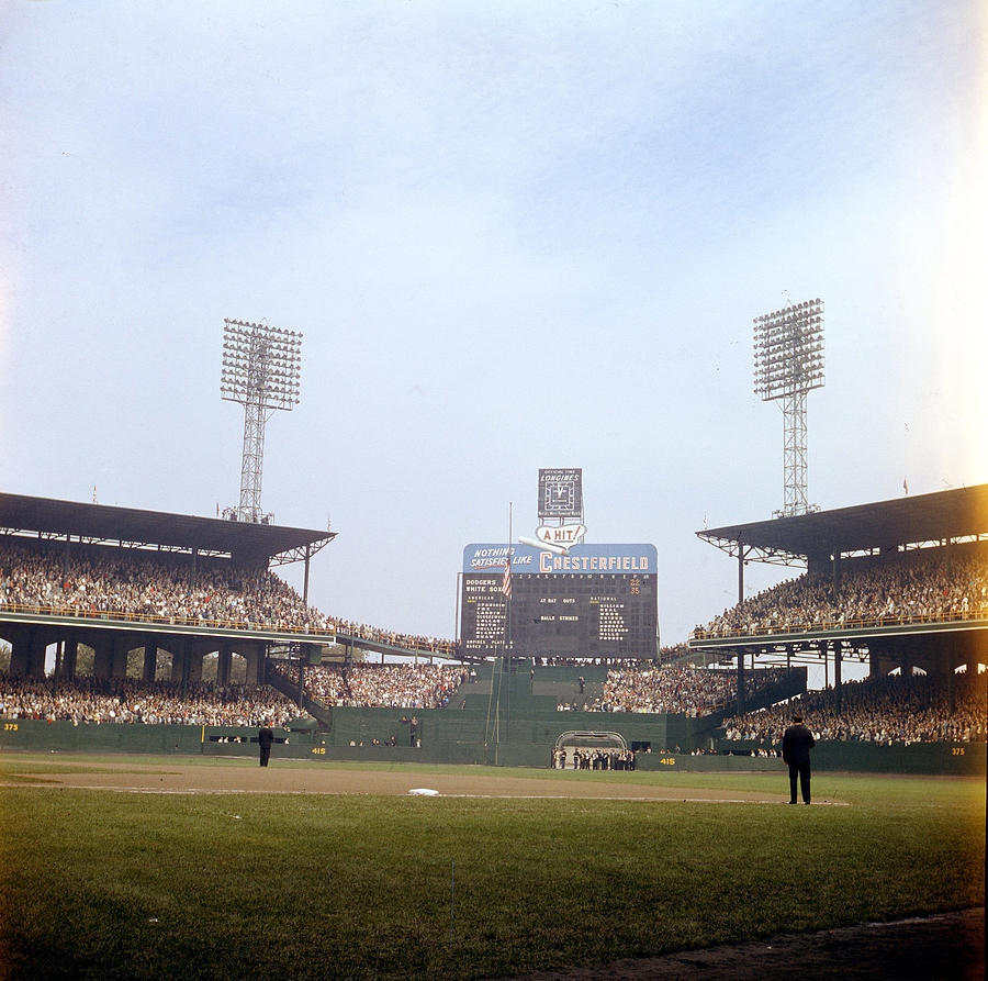 Marvin Newman Photograph - Comiskey Park Photo From The Outfield by Retro Images Archive