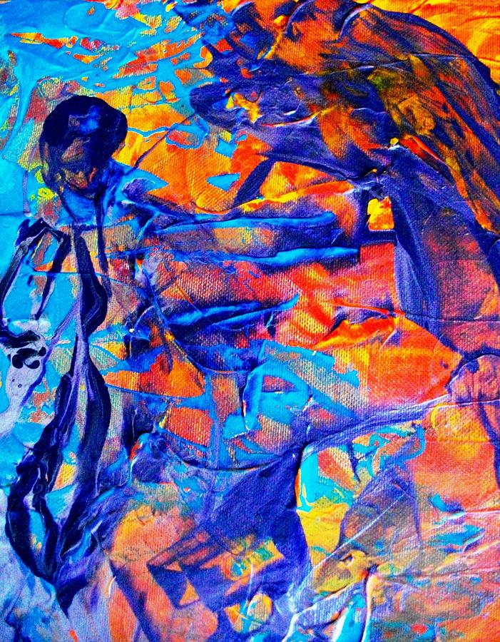 Abstract Painting - Commisceration For Anne-elizabeth Whitelaw by Bruce Combs - REACH BEYOND