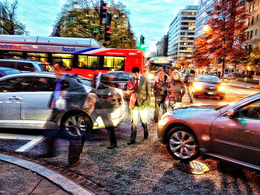 Washington Photograph - Commuter Ghosts At Rushour by Jim Moore