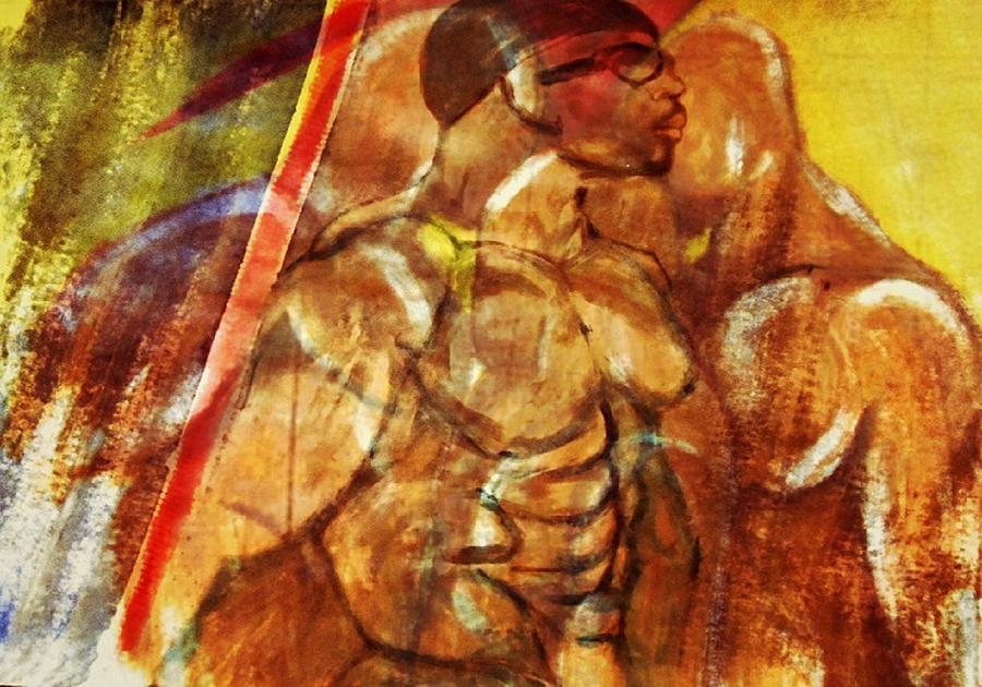 Figures Digital Art - Competition by Joseph Ferguson