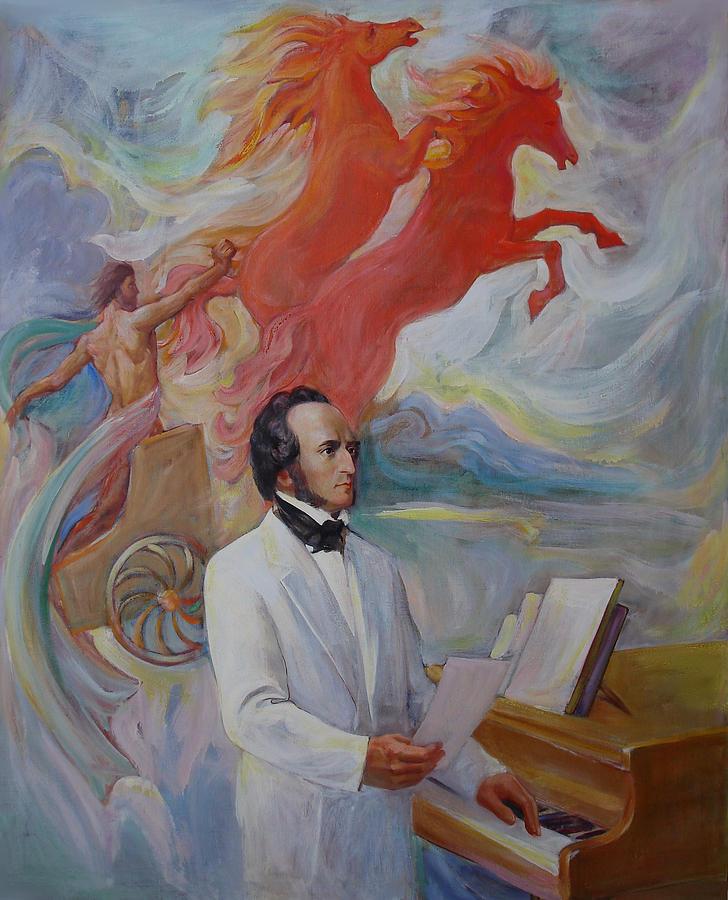 Composer Felix Mendelssohn Painting