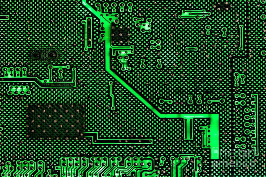 Computer Circuit Board Photograph