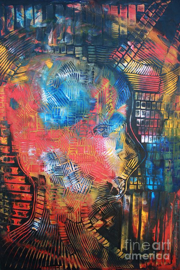 Computer Ethics Linked To Human Anatomy Painting
