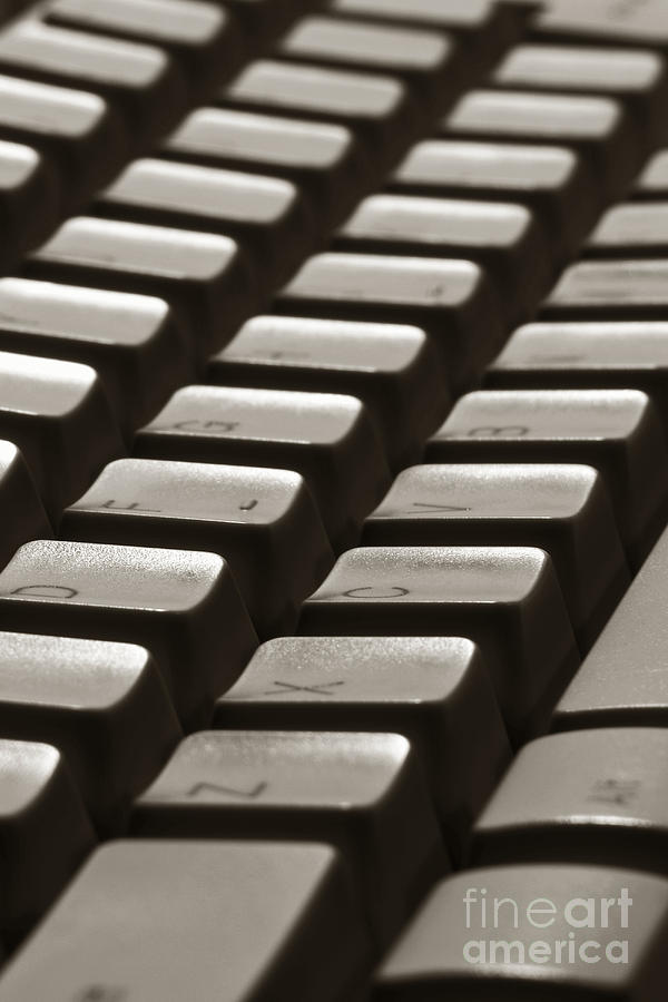 Computer Keyboard Photograph  - Computer Keyboard Fine Art Print