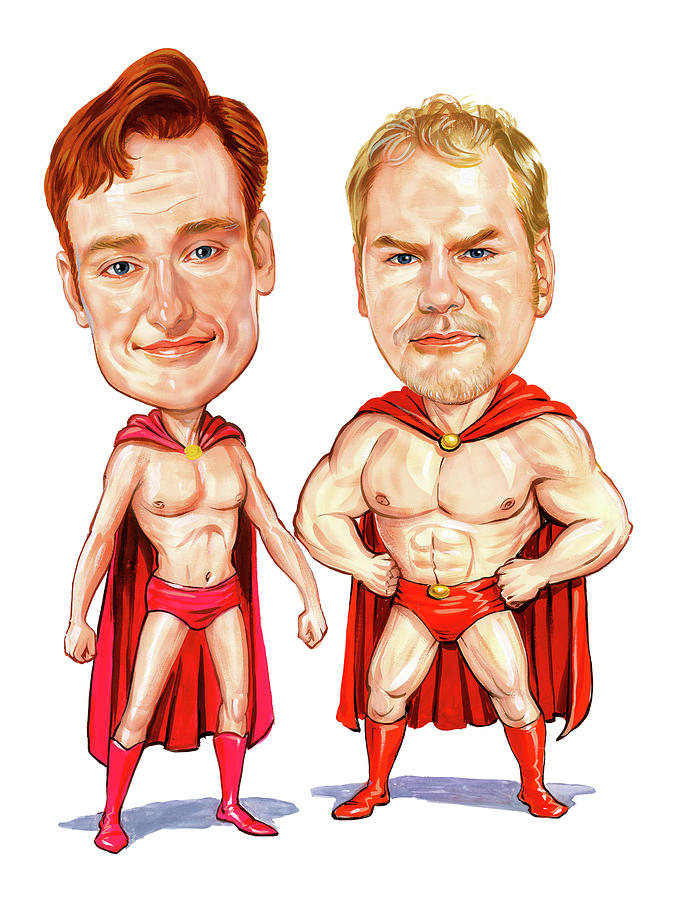 Conan  Obrien And Jim Gaffigan As Pale Force Painting