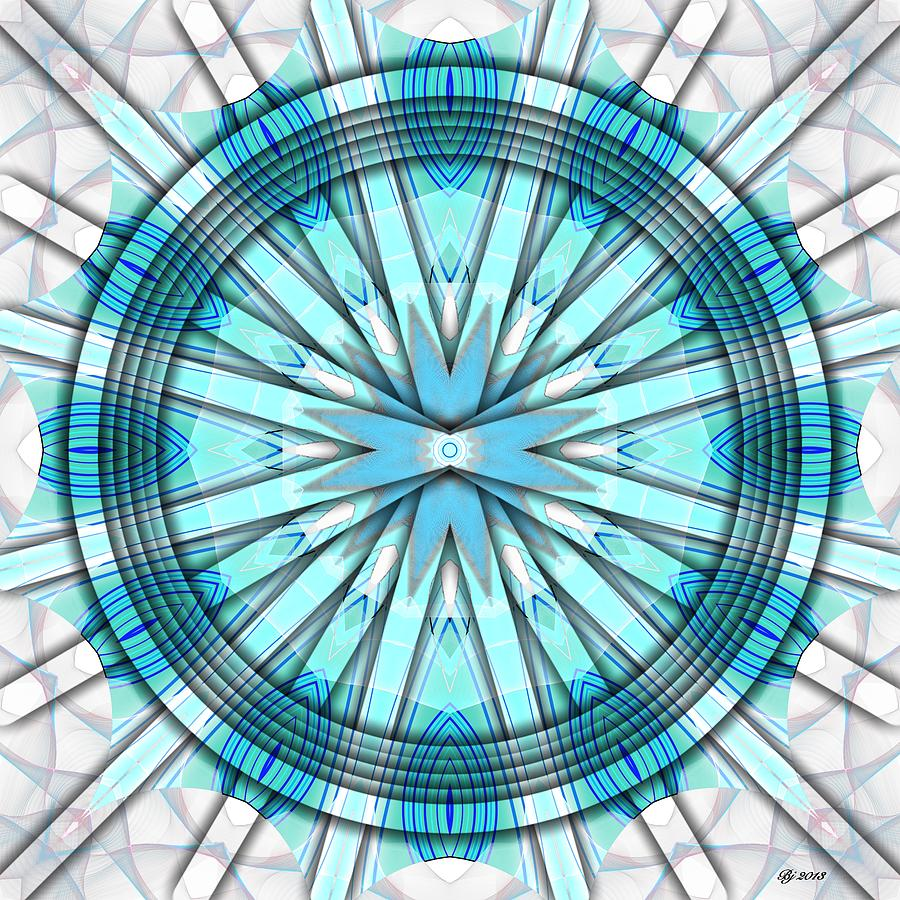 Abstract Digital Art - Concentric Eccentric 3 by Brian Johnson