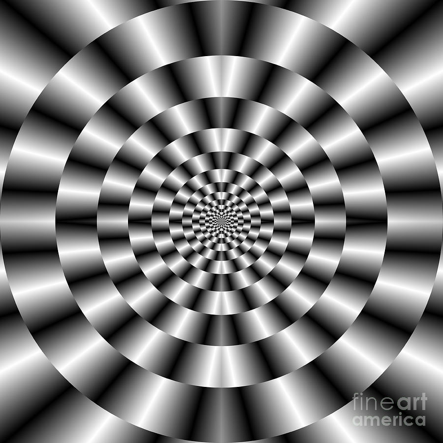 Concentric Rings In Monochrome is a piece of digital artwork by Colin ...
