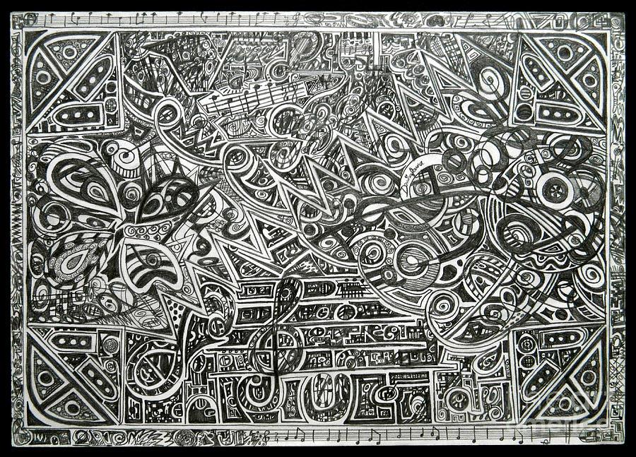 Original Drawing - Concert by Denisa Laura Doltu