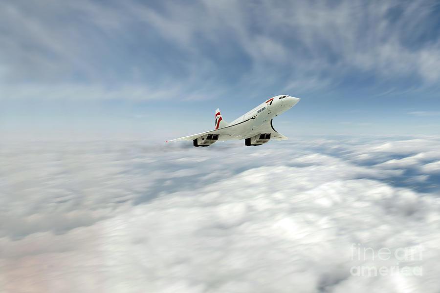 Concorde Digital Art - Concorde Legend by J Biggadike