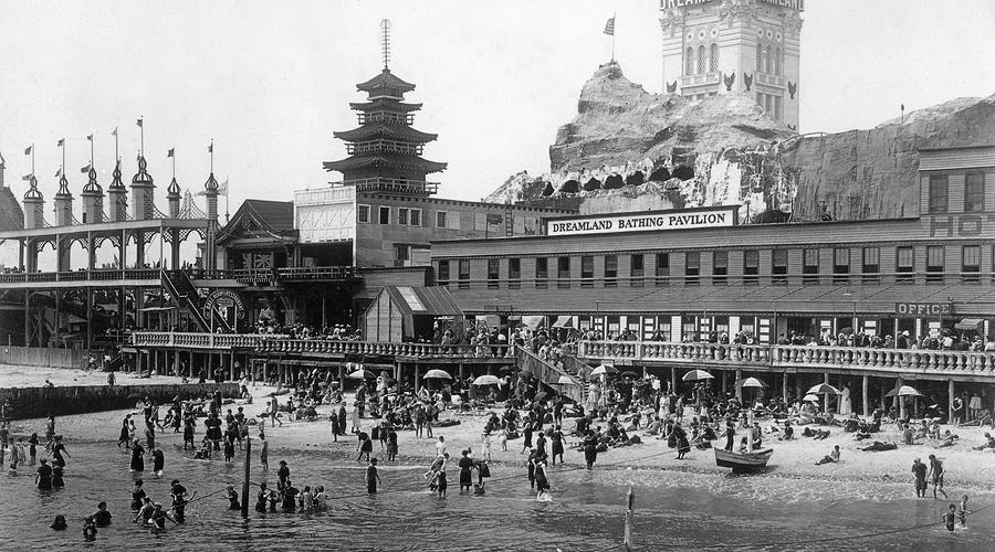 New York Photograph - Coney Island - Dreamland Beach by MMG Archives