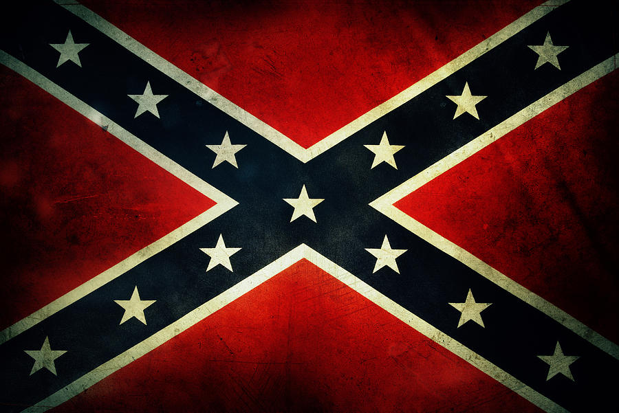 Flag Photograph - Confederate Flag by Les Cunliffe