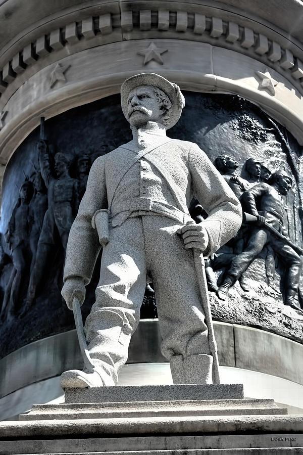 Confederate Photograph - Confederate Soldier II Alabama State Capitol by Lesa Fine