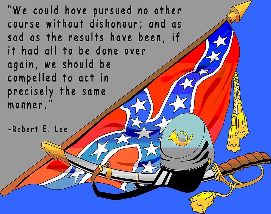 Confederate States Of America Robert E Lee Digital Art