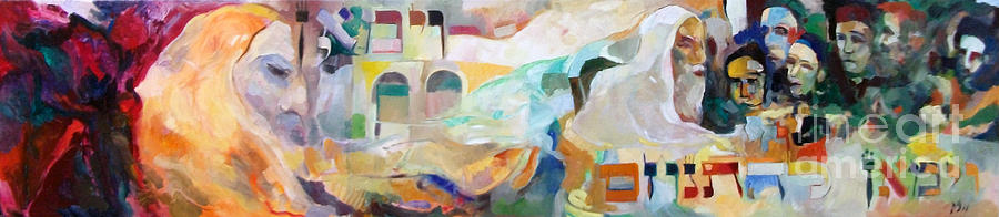 Torah Painting - Consoling Yaakov Avinu by David Baruch Wolk