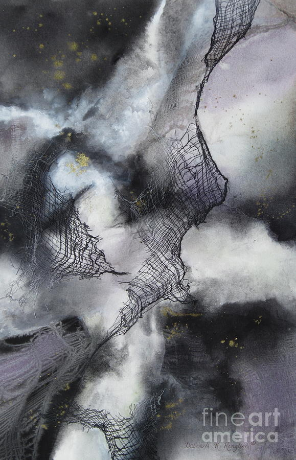 Black And White Painting - Constellation by Deborah Ronglien