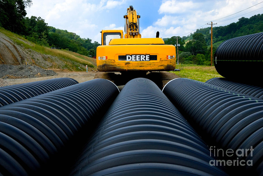 Construction Excavator Photograph  - Construction Excavator Fine Art Print