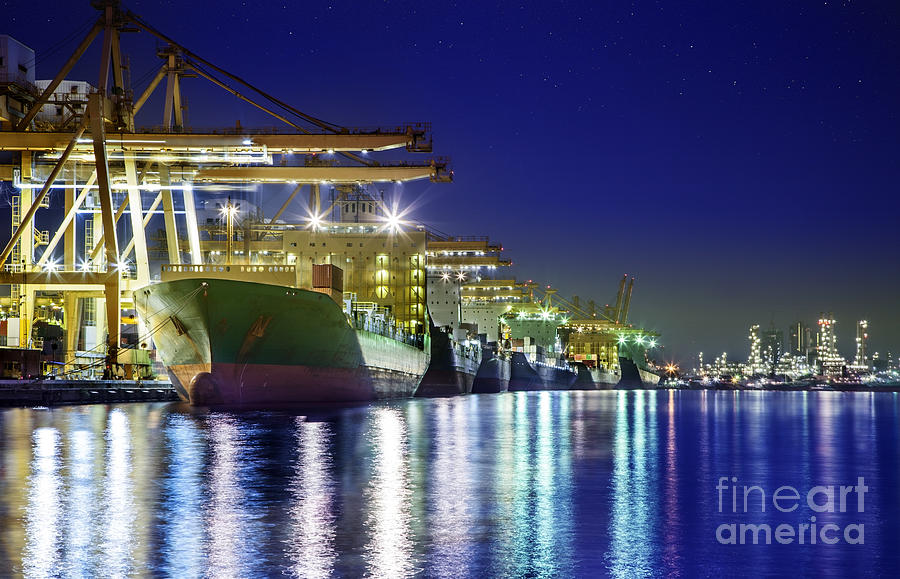 Container Cargo Freight Ship Photograph
