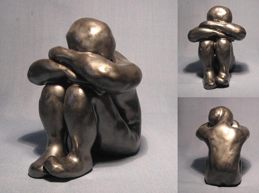 Handmade Sculpture - Contemplating by Bob Dann