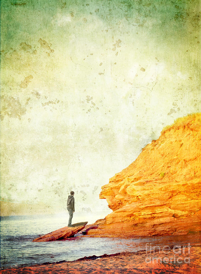 Cliff Photograph - Contemplation Point by Edward Fielding