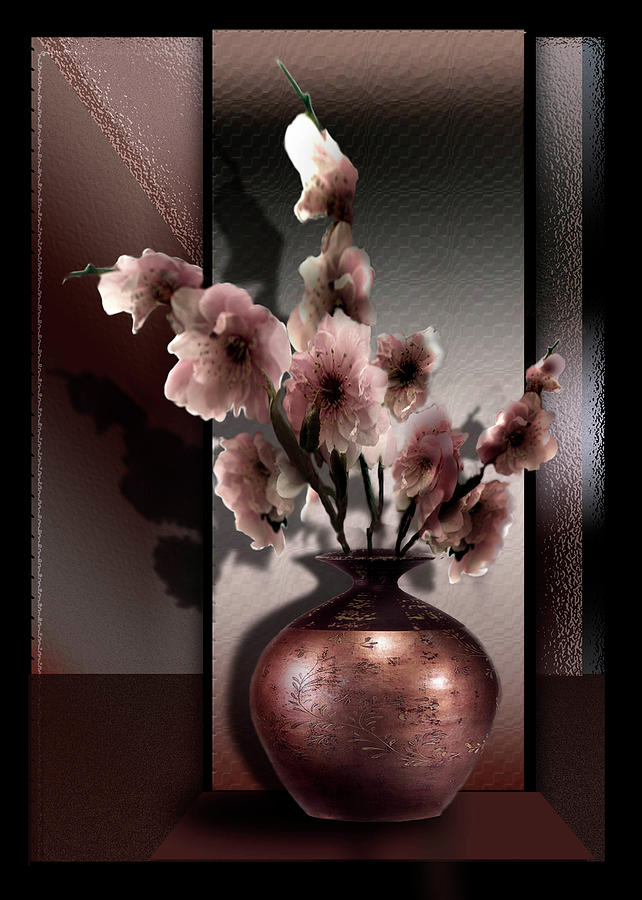 Contemporary Spring Blossoms Painting