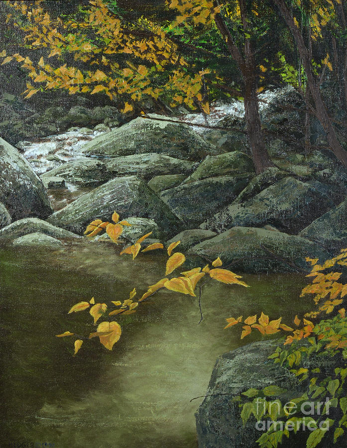 Landscape Painting - Cool And Shady by Jack Hedges