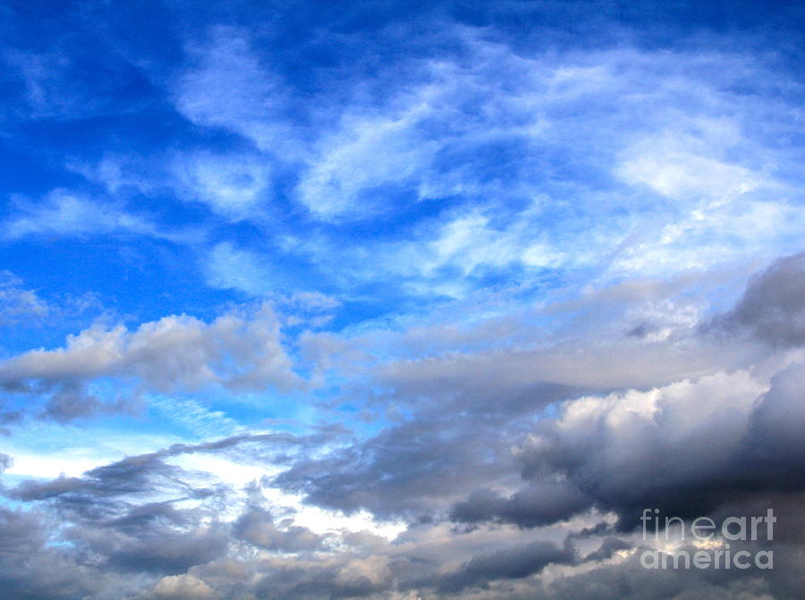 Cool Clouds Photograph  - Cool Clouds Fine Art Print