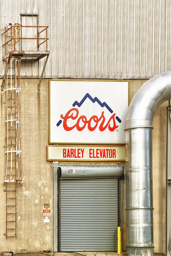 Coors Barley Elevator  Photograph