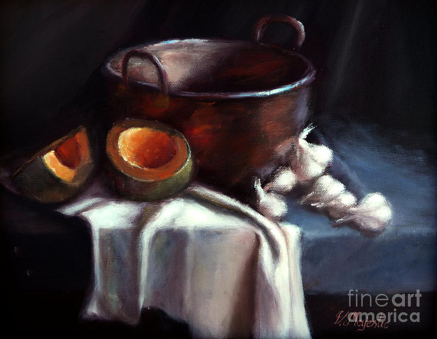 Copper Pot And Cantalpes Painting
