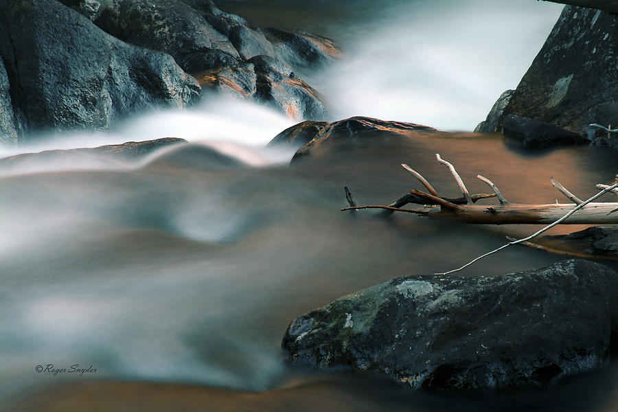 Unique Photograph - Copper Stream 2 by Roger Snyder