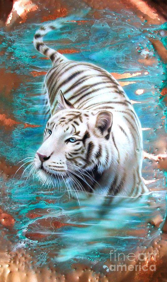 teal animal print wallpaper