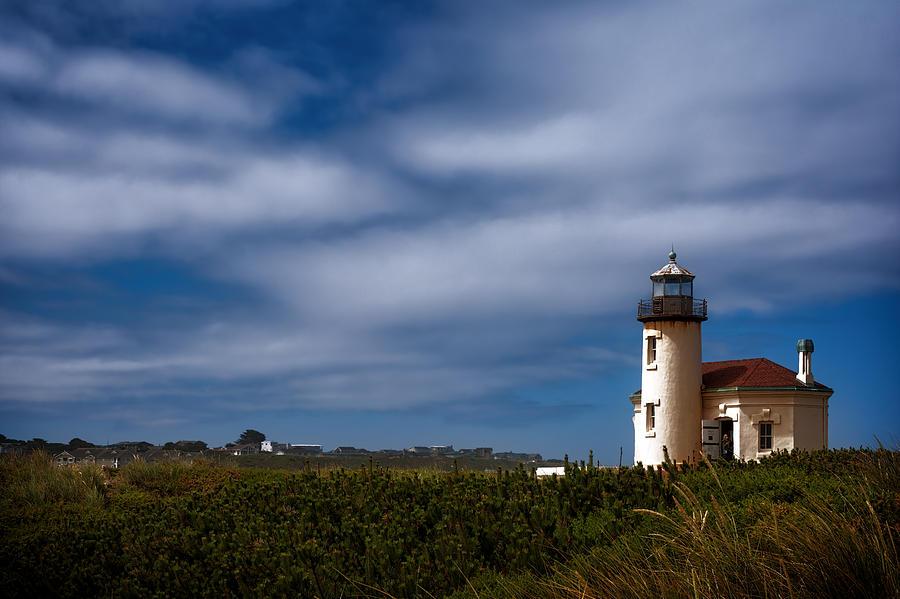 Joan Carroll Photograph - Coquille River Lighthouse by Joan Carroll