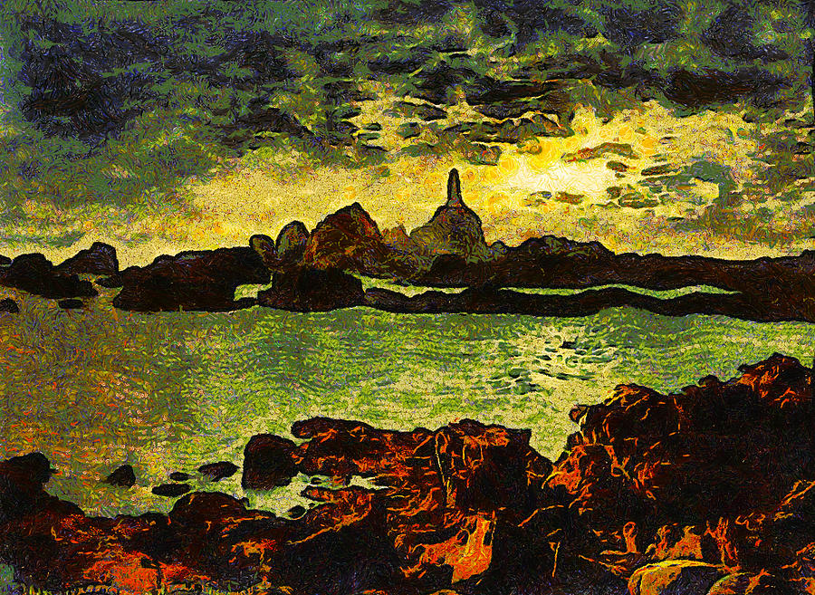 Corbiere Lighthouse Digital Art