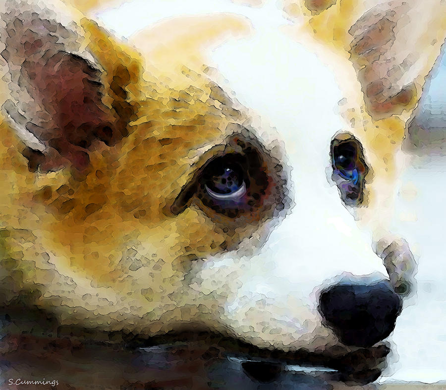 Corgi Art - That Look Painting  - Corgi Art - That Look Fine Art Print