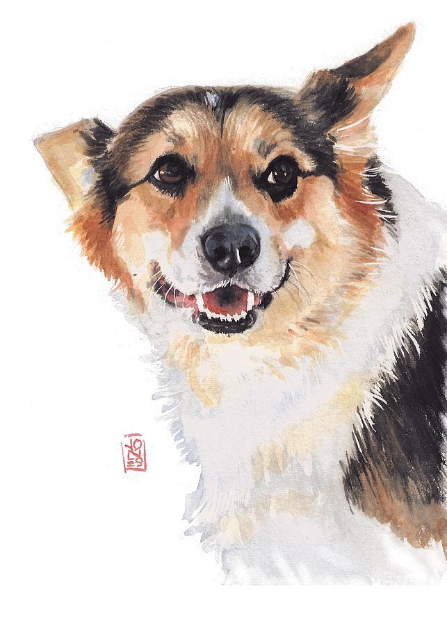 Corgi Glance Painting