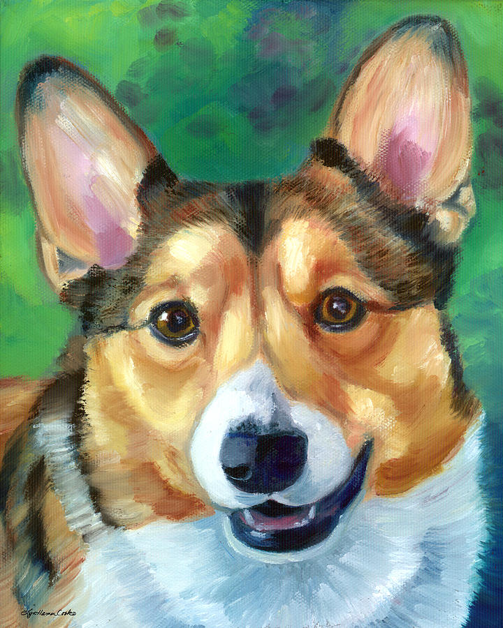Corgi Smile Painting